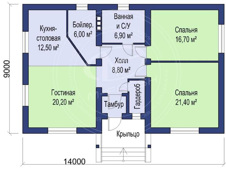 Fit (Проект 1-этажного дома для жизни на природе!): Гостиная в . Автор – Архитектурно-творческая мастерская 'M-FRESH'