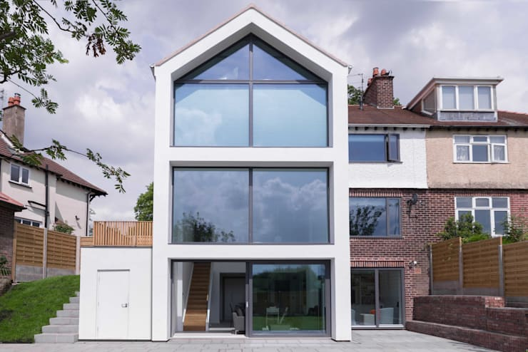 Rear elevation Maisons modernes par guy taylor associates Moderne