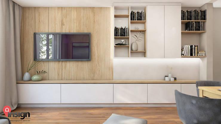 RuSl_03: styl , w kategorii Salon zaprojektowany przez InSign Pracownia Projektowa Karolina Wójcik