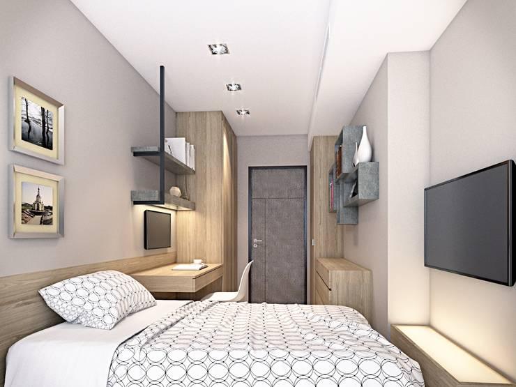 永康  大都匯:  臥室 by 棠豐室內裝修設計工程有限公司