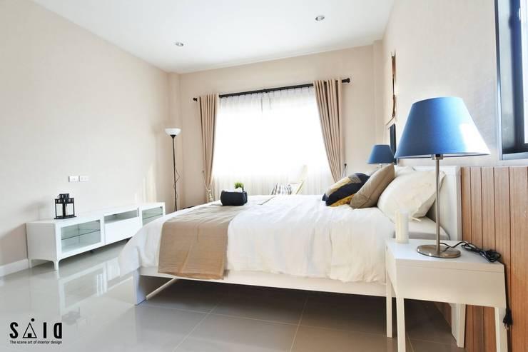 บ้านขนาด2 ห้องนอน:   by The scene art of interior design