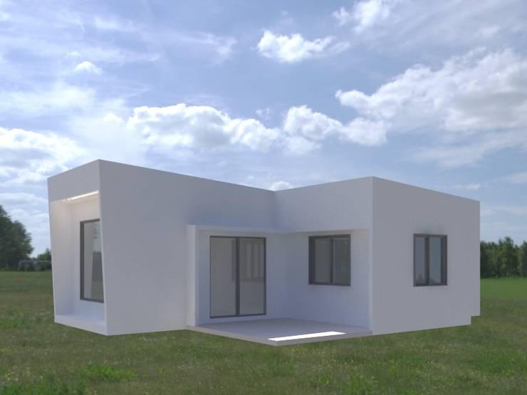 Casa Negrón Alvarado: Casas unifamiliares de estilo  por AEG Arquitectura, Asesoría y Construcción.