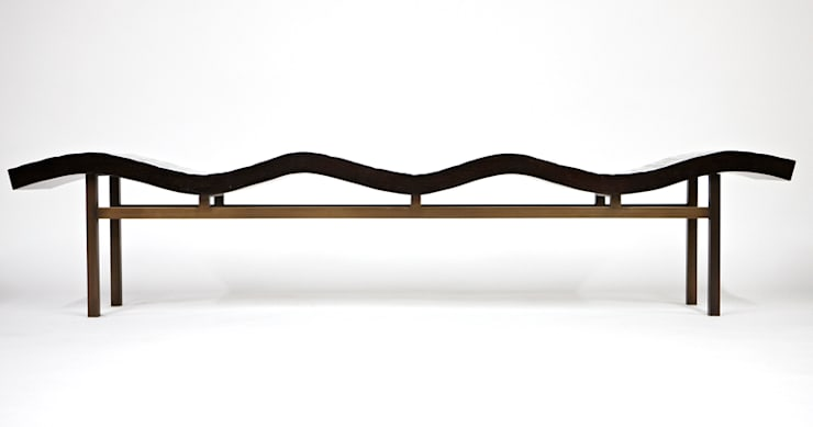 Bamboo Wave Bench : modern Living room by Aguirre Design