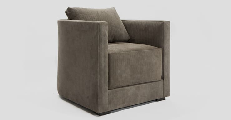 Lawrence Club Chair : modern Living room by Aguirre Design