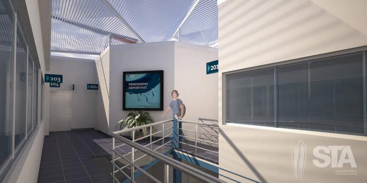 Patio Interior 2do Nivel: Escuelas de estilo  por Soluciones Técnicas y de Arquitectura , Moderno
