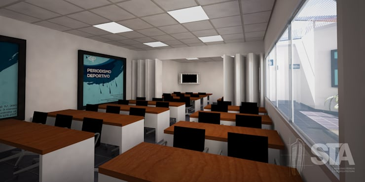 Aula Típica: Escuelas de estilo  por Soluciones Técnicas y de Arquitectura , Moderno