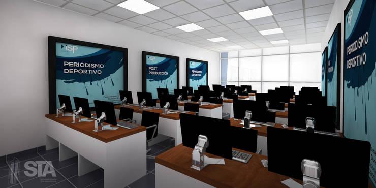 Sala de Computo: Escuelas de estilo  por Soluciones Técnicas y de Arquitectura , Moderno