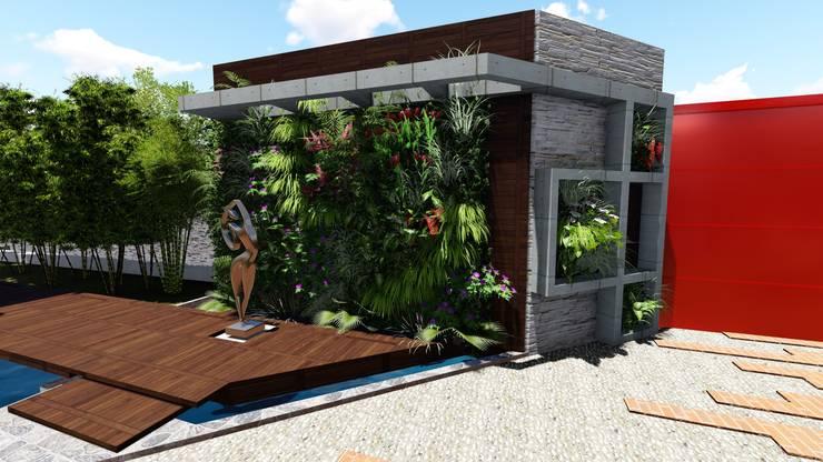 Jardines frontales de estilo  por Arquitectura Creativa
