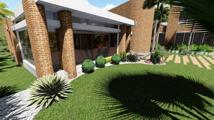 Paisajismo Casa CUMBRES DE CURUMO: Jardines zen de estilo  por Arquitectura Creativa
