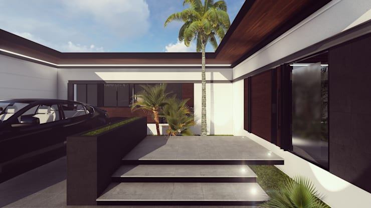 ACCESO: Casas de estilo  por BOCA ARQUITECTOS