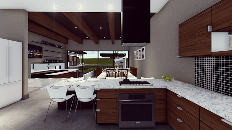 Cocinas equipadas de estilo  por BOCA ARQUITECTOS