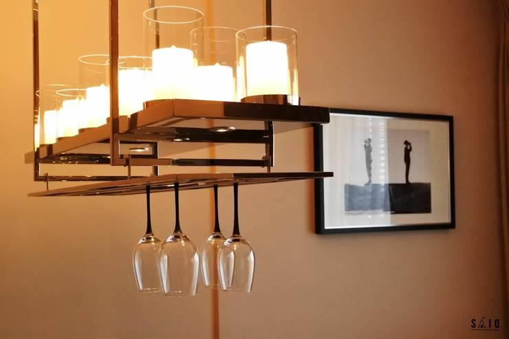 คอนโดมิเนียม ขนาด 45 sq.m.:  ตกแต่งภายใน by The scene art of interior design