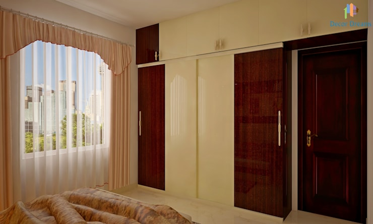 Sobha City, 3 BHK—Mr. Agrawal: modern Bedroom by DECOR DREAMS