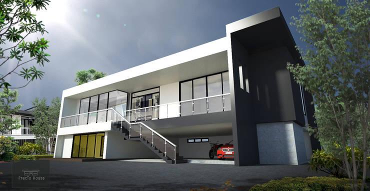 บ้านพักสไตล์สตูดิโอ ยกพื้นสูง TYPE B:   by PRECIO HOUSE
