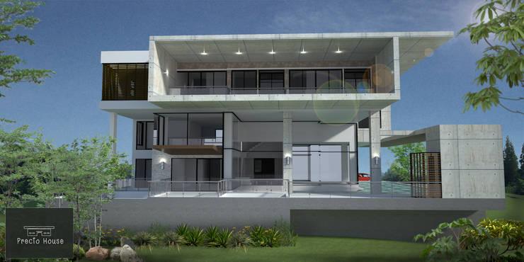 บ้านตากอากาศในพื้นที่สนามกอล์ฟ:   by PRECIO HOUSE