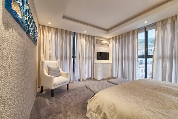 Rose St:  Bedroom by House Couture Interior Design Studio, Eclectic