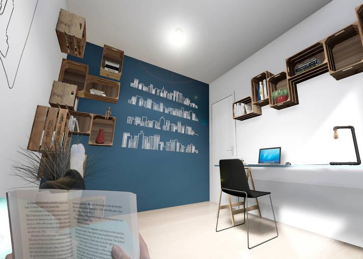 Concurso Meu Decorado: Escritórios  por Escaleno Arquitetos Associados