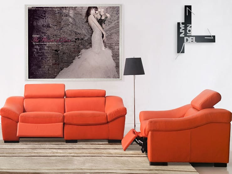 Progetti Souvenir Wall Clock:  Living room by Just For Clocks,
