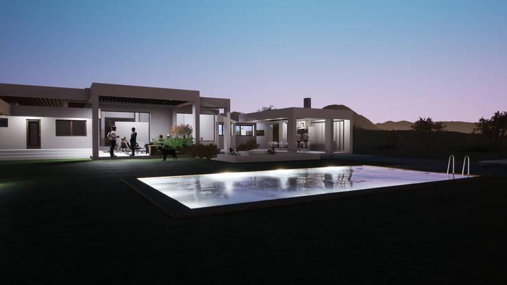 DISEÑO DE CASA EN BUIN : Casas unifamiliares de estilo  por Dušan Marinković - Arquitectura - Santiago