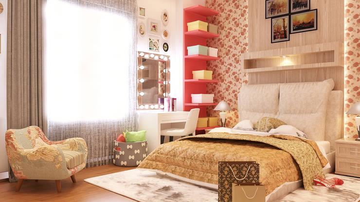 غرفة نوم تنفيذ Belal Samman Architects