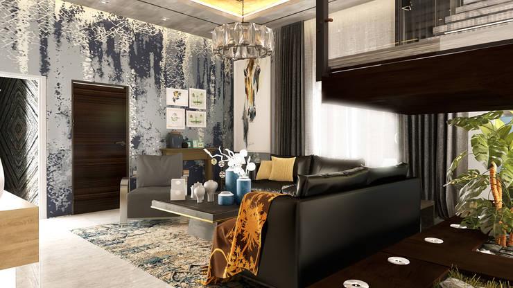 غرفة المعيشة تنفيذ Belal Samman Architects
