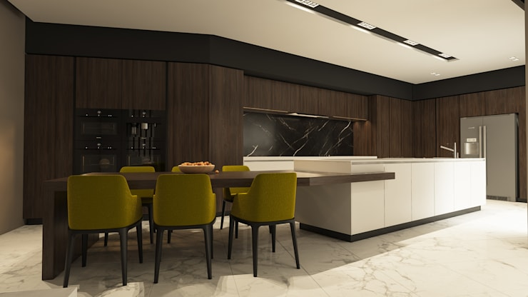 colonial Kitchen by ICONIC DESIGN STUDIO