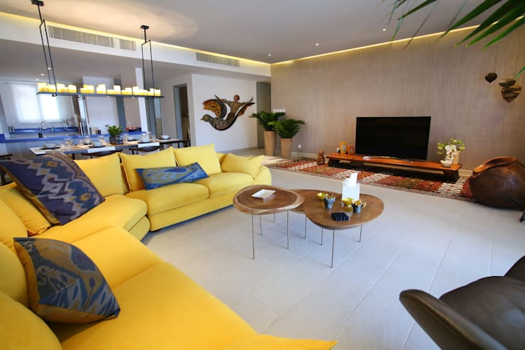 modern Living room تنفيذ Paradigm Design House