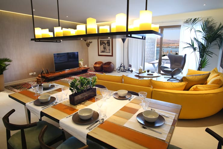 modern Dining room تنفيذ Paradigm Design House