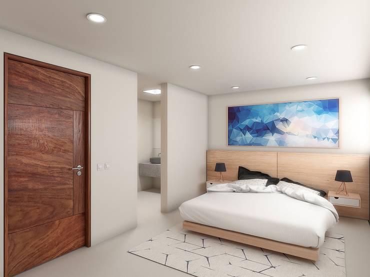 Habitación principal: Recámaras de estilo minimalista por Taller Veinte