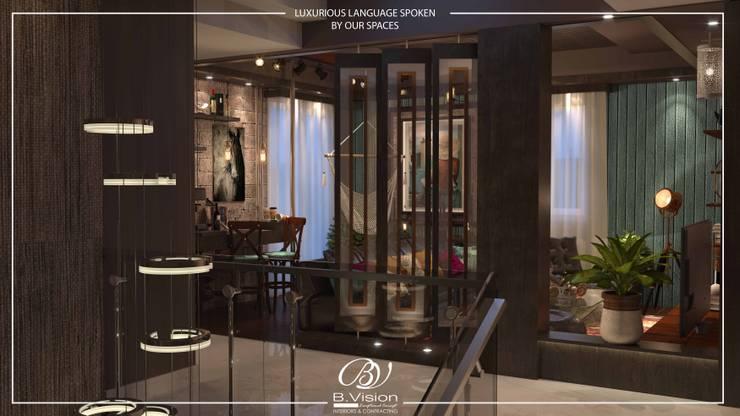 غرفة المعيشة تنفيذ Bvision Interiors
