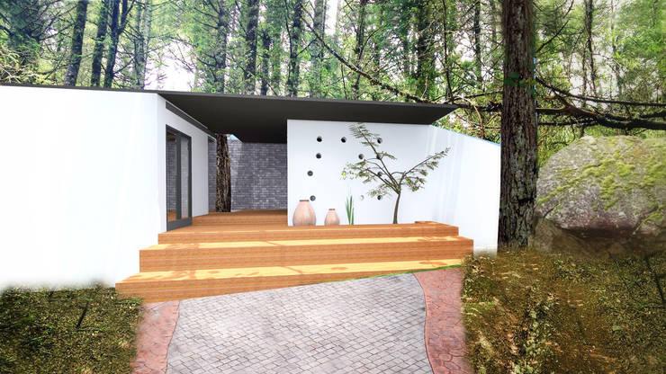ENTRADA PRINCIPAL: Casas de estilo  por De.sign