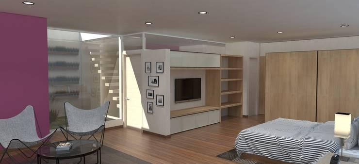 Dormitorio: Dormitorios de estilo  por IMAGENES MR