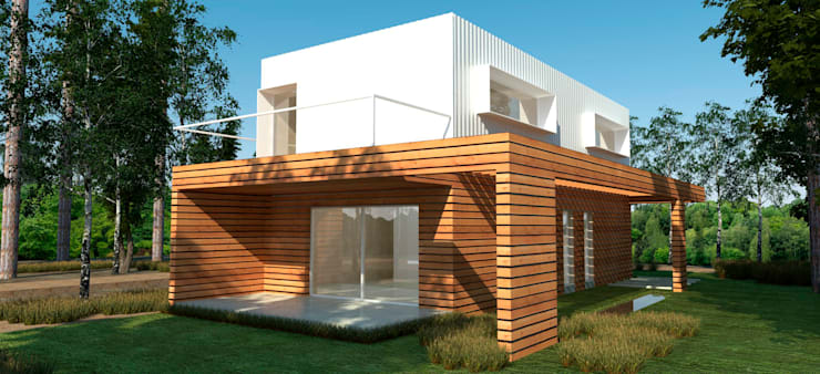 Country house by IMAGENES MR, Modern Wood Wood effect
