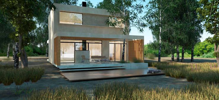 Vivienda Sauce: Casas unifamiliares de estilo  por IMAGENES MR,Moderno Concreto reforzado