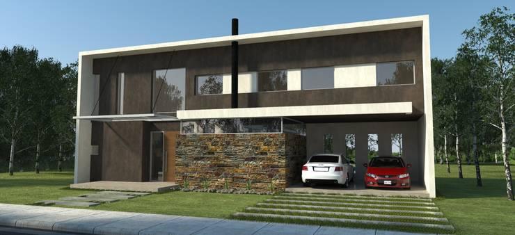 Vivienda La Plata: Casas unifamiliares de estilo  por IMAGENES MR,