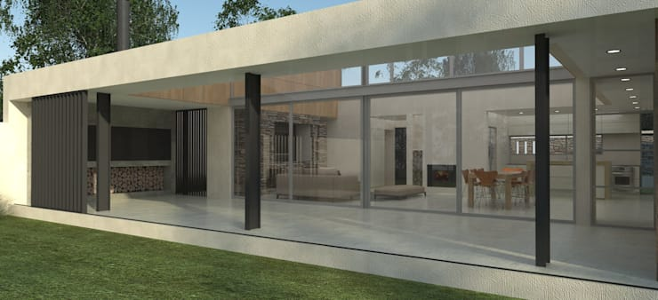 Galeria: Casas unifamiliares de estilo  por IMAGENES MR,