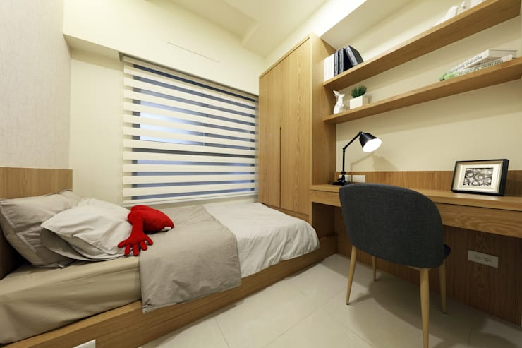臥室B:  臥室 by 見本設計