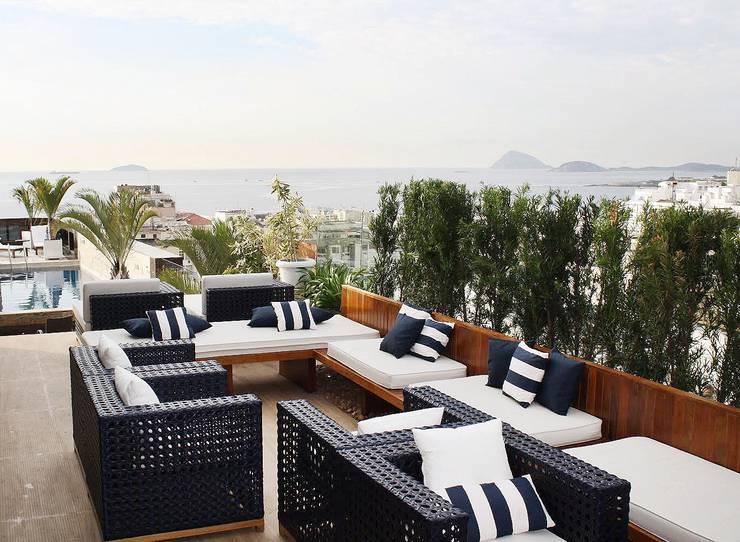 Cobertura | Hotel Royal Rio Palace: Terraços  por TRIDI arquitetura