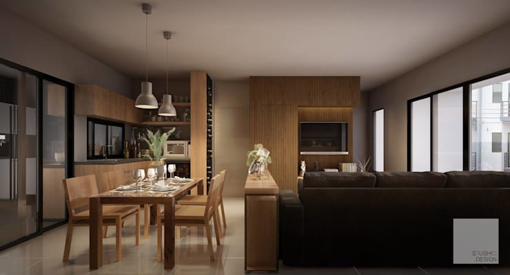 Living Room:   by Stushio Design