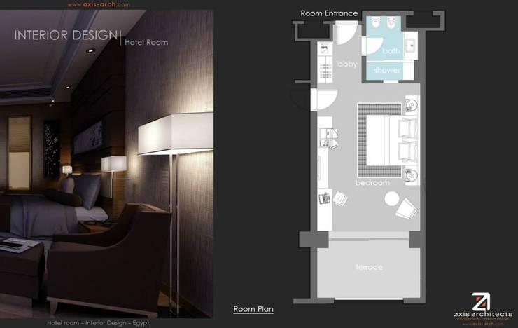 غرفة نوم تنفيذ  Axis Architects for architecture and interior design