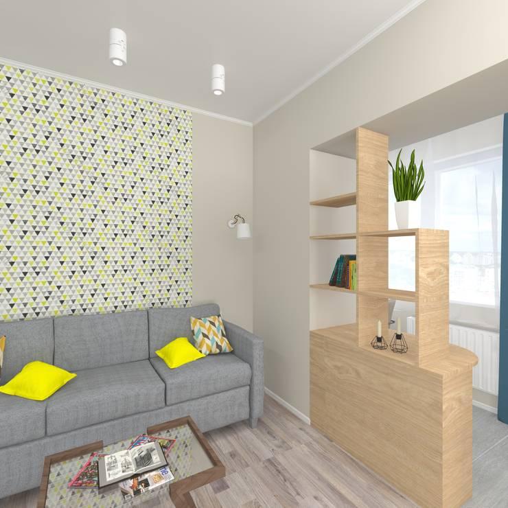 Дизайн проект однокомнатной квартиры для молодой семьи.: Рабочие кабинеты в . Автор – ARTWAY центр профессиональных дизайнеров и строителей, Минимализм