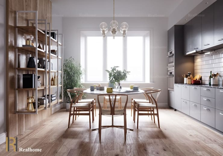 LOUEY PROJECT:  Dining room by REAL HOME VN