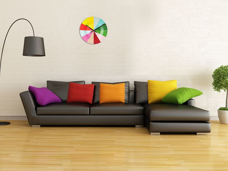 Karlsson Slices Colourful Clock: modern Living room by Just For Clocks