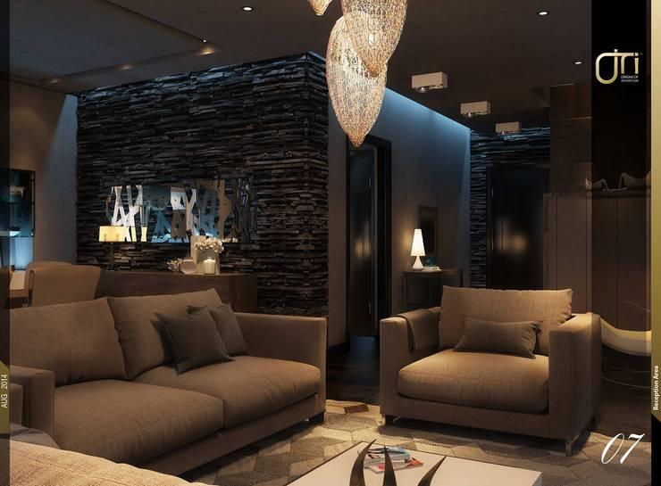 غرفة المعيشة تنفيذ Ori - Architects