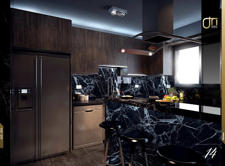 مطبخ تنفيذ Ori - Architects
