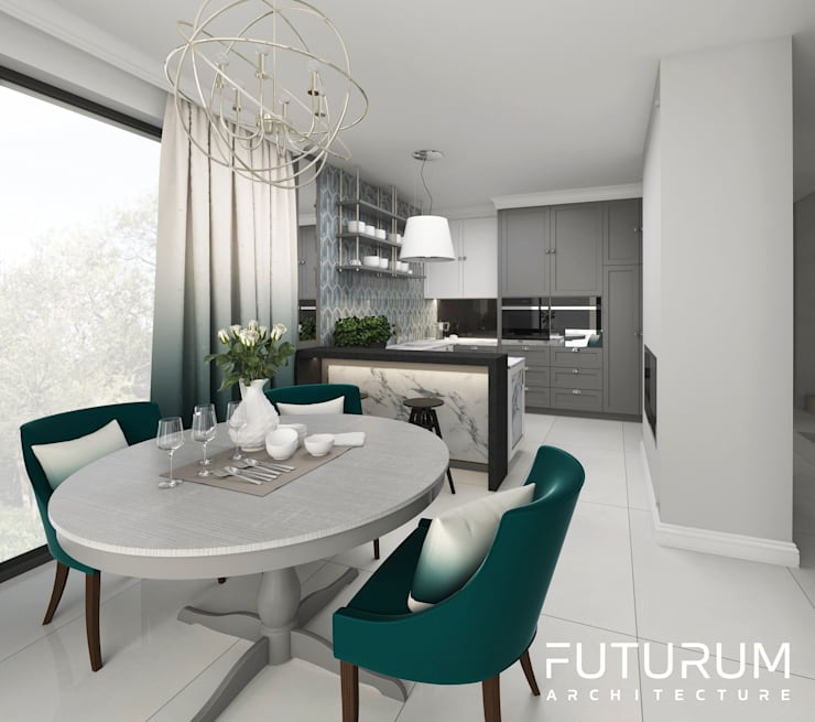 Dining room by Futurum Architecture