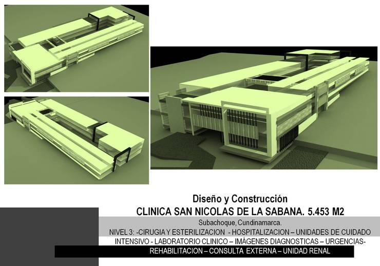 PROYECTO CLINICA SAN NICOLAS DE LA SABANA - GRUPO GAAB :  de estilo  por Grupo GAAB SAS - Arquitectura & Diseño