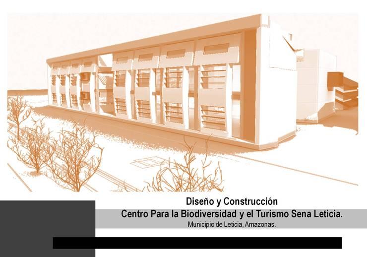 CENTRO BIODIVERSIDAD Y TURISMO SENA LETICIA : Salas de estilo  por Grupo GAAB SAS - Arquitectura & Diseño