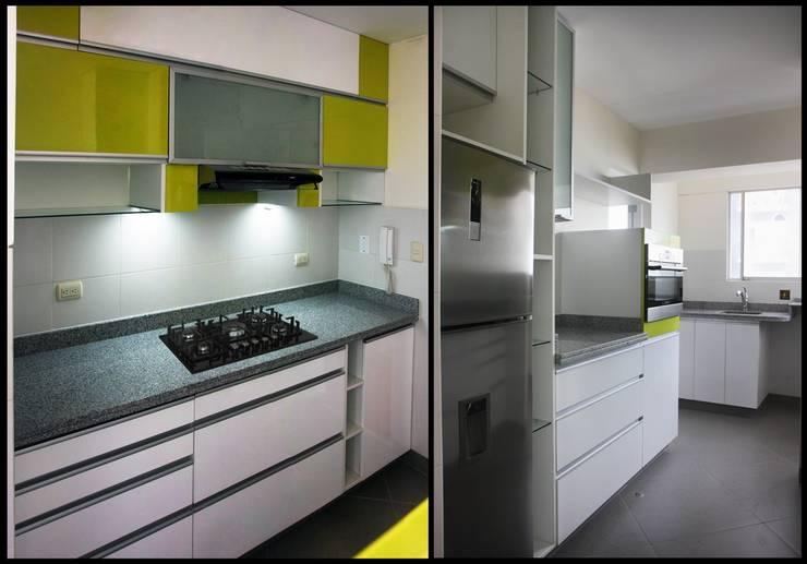 Dos Cocinas Pequeñas con gran personalidad: Cocinas de estilo  por A3 Interiors