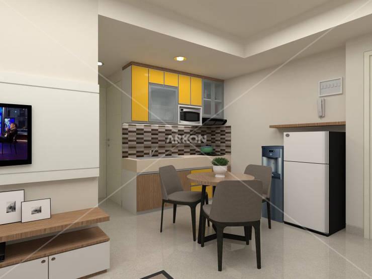 3D Apartment Trivium Terace, Cikarang Bekasi:  Dining room by ARKON